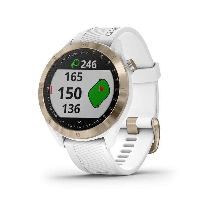 MONTRE GPS DE GOLF GARMIN S40 PREMIUM BLANCHE ROSE