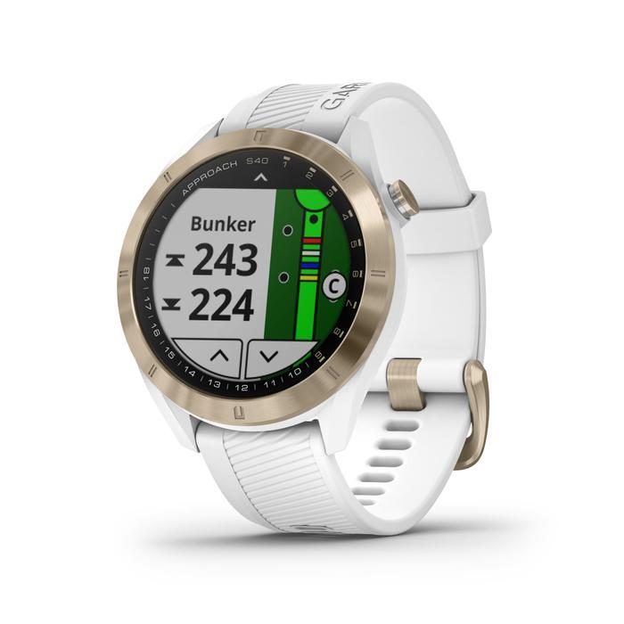 Reloj GPS Golf Garmin S40 Premium Blanco Rosa