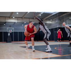 男款雙面籃球短褲 - 海軍藍/深紅色