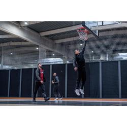 Basketbalhoodie J500 zwart/grijs