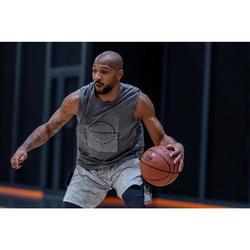 Basketbaltank voor heren TS500 grijs/rood