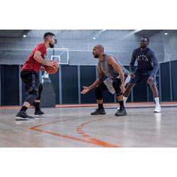Men's Reversible Basketball Shorts - Navy/Garnet Red