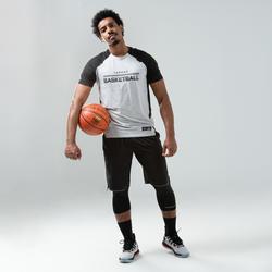 男款全新緊身籃球七分褲-黑色