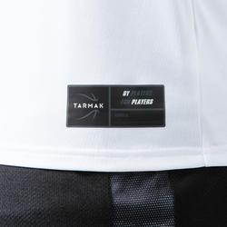 T-SHIRT / MAILLOT DE BASKETBALL SANS MANCHE HOMME TS500 BLANC TRAINING CAMP