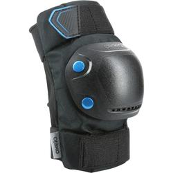 Set 3 protecciones roller skateboard patinete adulto FIT500 negro azul