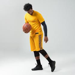 Basketbalshort voor heren SH500 geel
