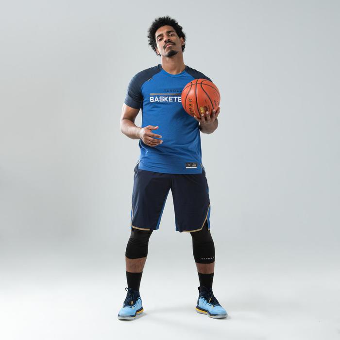 男款籃球運動短褲SH900-軍藍色