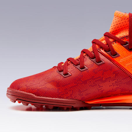 Tenis de fútbol junior para terrenos duros Agility 900 HG rojo naranja