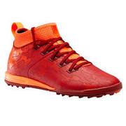 Botas de Fútbol Kipsta Agility 900 HG Turf niños rojo naranja