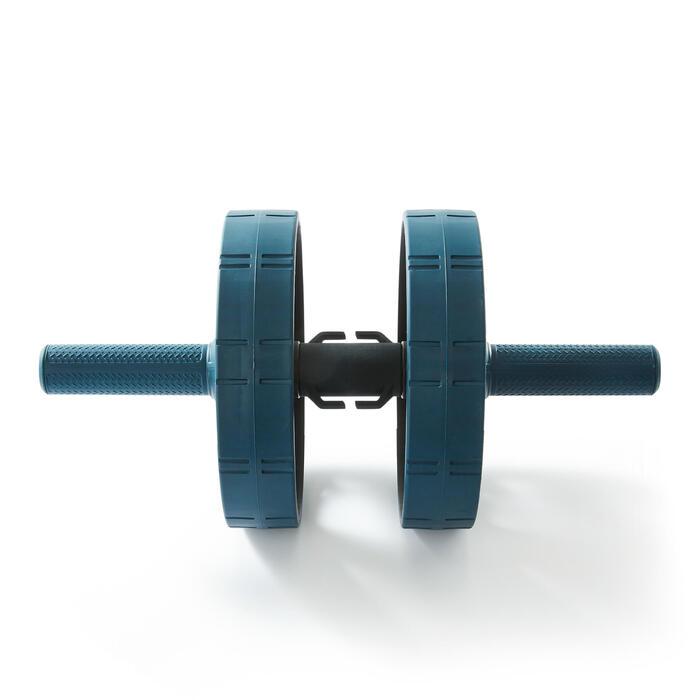 Evolutief buikspierwiel met mat / Ab wheel evolutive