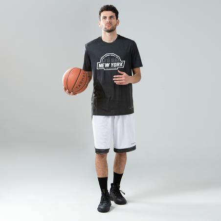 Men's Reversible Basketball Shorts - Grey/Burgundy