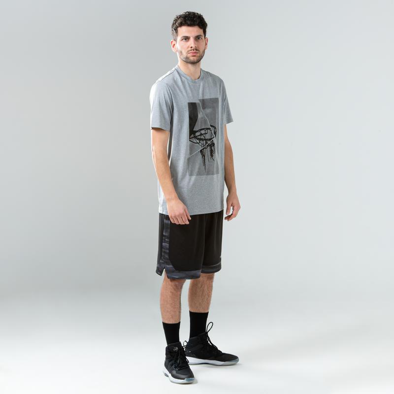 Men's High-Rise Basketball Shoes SC500 - Black