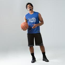 Mouwloos basketbalshirt TS500 koningsblauw Los Angeles (heren)