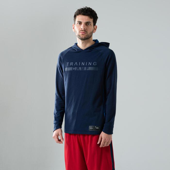 T-shirt manches longues à capuche Shooting Shirt TS500LS H Marine