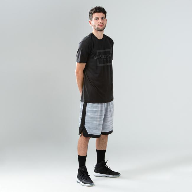 Men's Reversible Basketball Shorts - Grey/Black