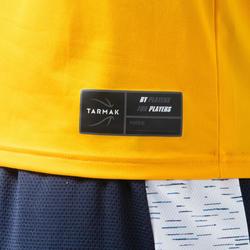 T-SHIRT / MAILLOT DE BASKETBALL HOMME TS500 JAUNE/BLEU STREET