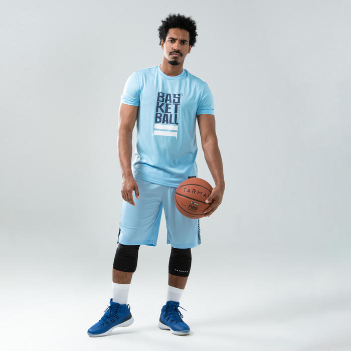 Men's Reversible Basketball Shorts - Sky Blue/Navy
