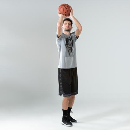 חולצת טי לכדורסל לגברים TS500 - סל אפור