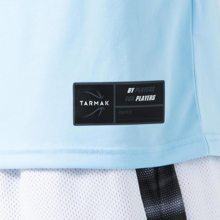 男款籃球T恤/運動衫TS500-藍底藍字街頭