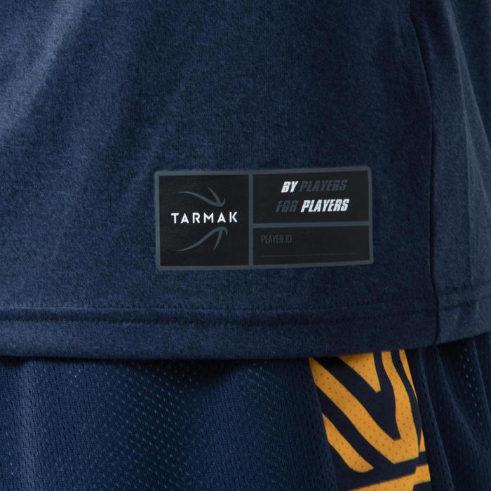 T-SHIRT / MAILLOT DE BASKETBALL HOMME TS500 BLEU/BLEU STREET