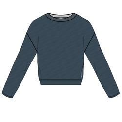 女款有氧健身訓練運動衫500 - 藍綠色