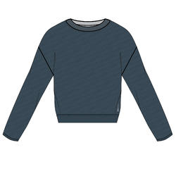 Women's Fitness Cardio Training Sweatshirt 500 - Teal