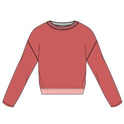 女款有氧健身訓練運動衫500 - 粉色