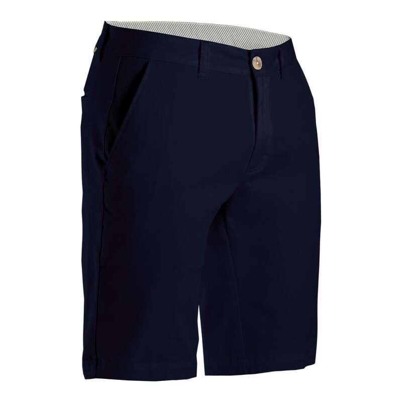 PÁNSKÉ GOLFOVÉ OBLEČENÍ DO CHLADNĚJŠÍHO POČASÍ Golf - GOLFOVÉ KRAŤASY MODRÉ  INESIS - Golfové oblečení