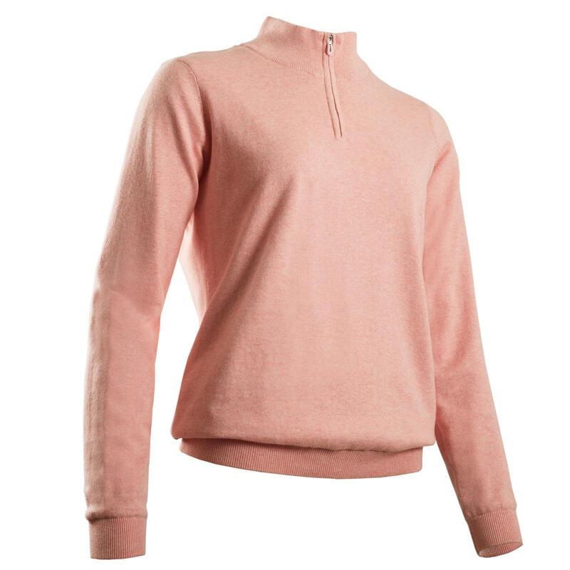 Maglione antivento golf donna 500 rosa
