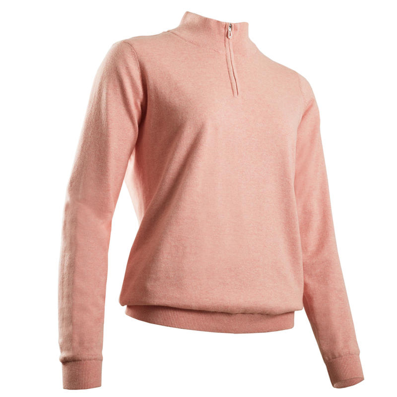 Women's golf windproof pullover MW500 pink