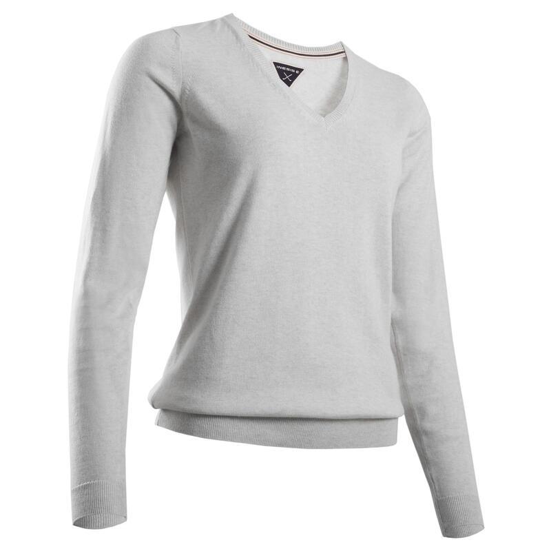 Women's Golf Pullover - Light Grey