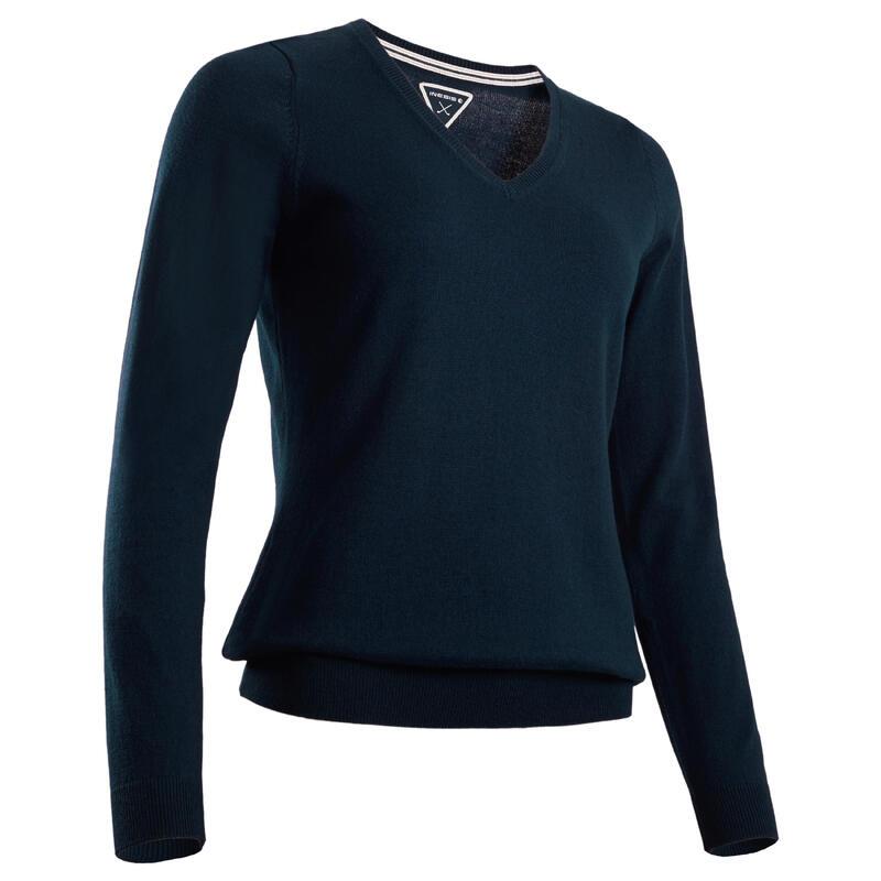 Golftrui dames | Golf sweater | Katoen | zacht weer | marineblauw
