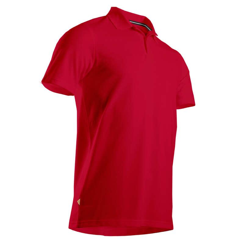 FÉRFI GOLFRUHÁZAT ENYHE ID#RE Golf - Férfi golfpóló MW500, piros  INESIS - Golfruházat, Golf cipő, Golf kesztyű