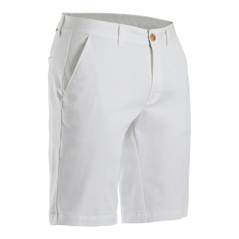 Short de golf homme MW500 blanc