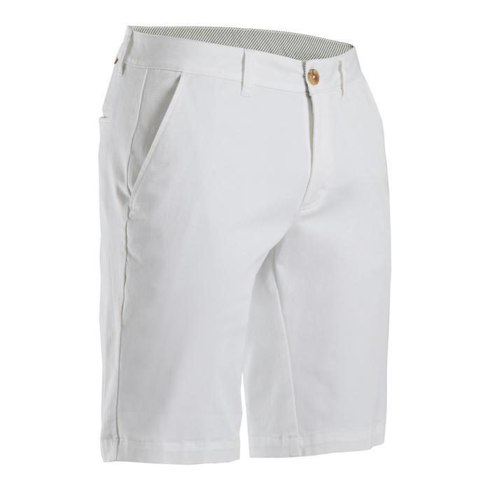 Golfshort voor heren wit