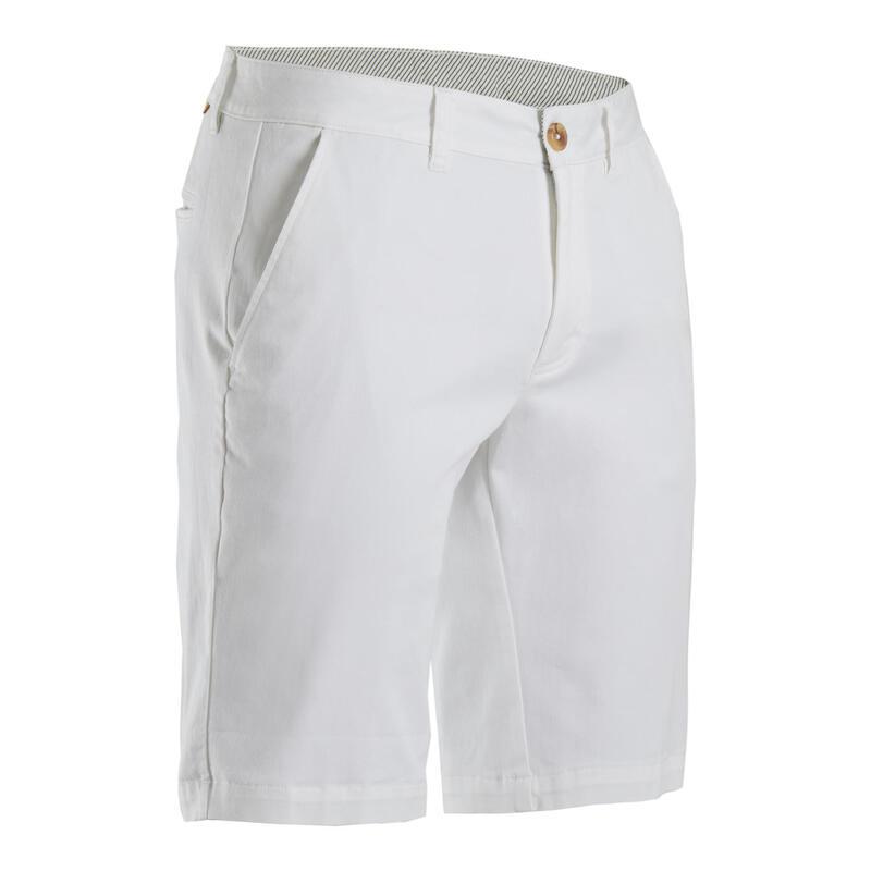 Golfshort voor heren MW500 wit