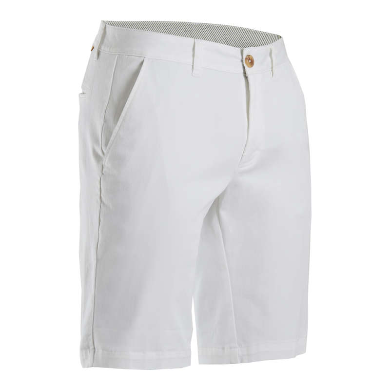 [EN] MEN GOLF SHORTS MILD WEATHER Imbracaminte - Bermude Golf Alb Bărbați INESIS - Pantaloni