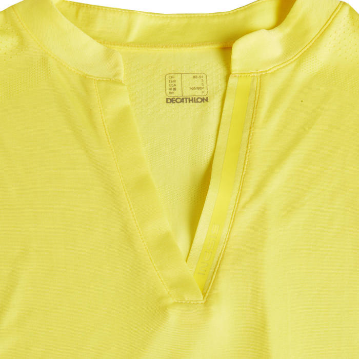 Mouwloze golfpolo voor dames Ultralight geel