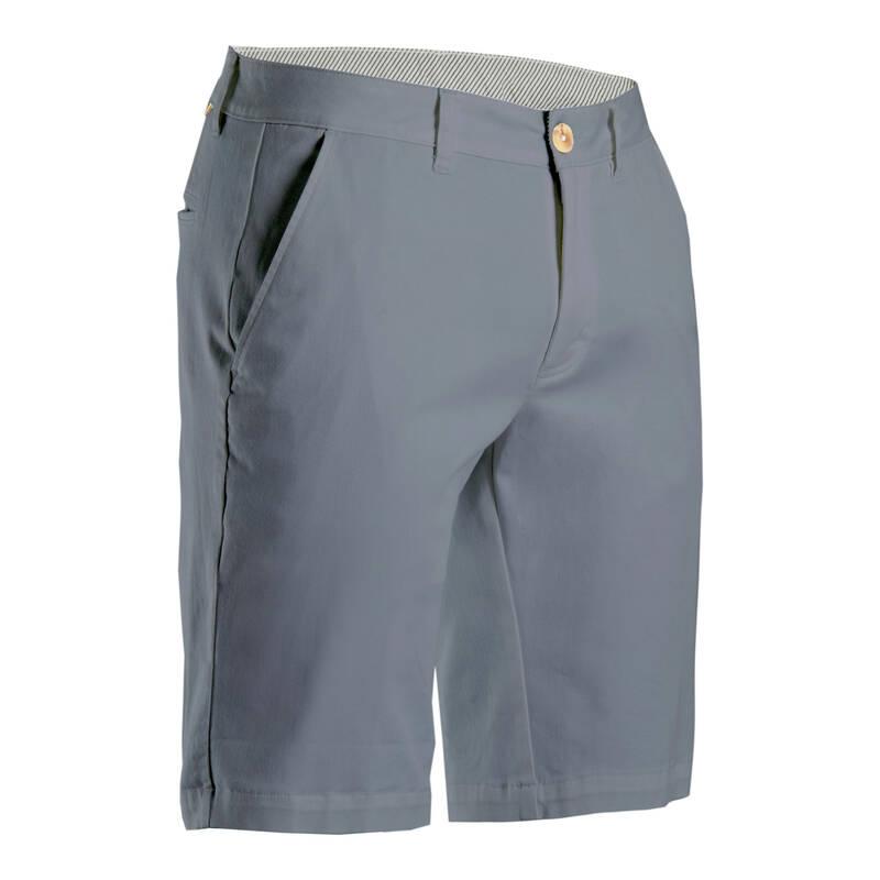 PÁNSKÉ GOLFOVÉ OBLEČENÍ DO CHLADNĚJŠÍHO POČASÍ Golf - PÁNSKÉ GOLFOVÉ KRAŤASY ŠEDÉ INESIS - Golfové oblečení