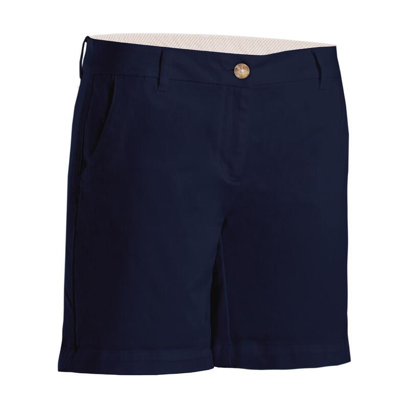 Short de golf femme MW500 bleu marine
