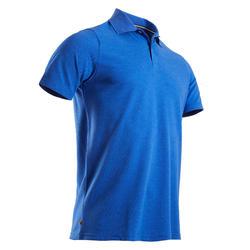 男款高爾夫短袖Polo衫-刷色藍