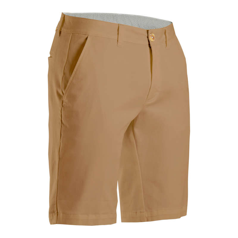 MENS MILD WEATHER GOLF CLOTHING Golf - Men's Golf Shorts - Beige INESIS - Golf Clothing