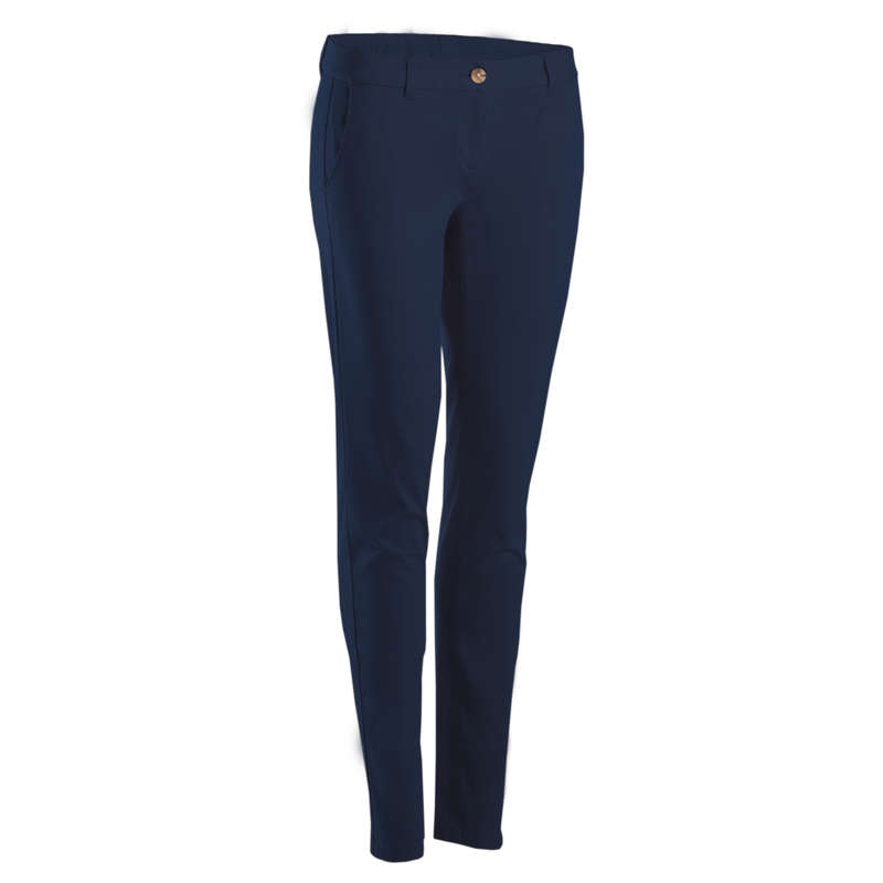 WOMENS MILD WEATHER GOLF CLOTHING Golf - MW TROUSERS (W) - NAVY BLUE INESIS - Golf Clothing