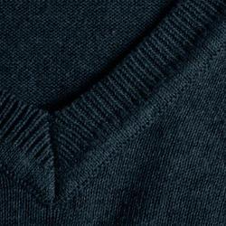 MEN'S V-NECK GOLF PULLOVER - NAVY BLUE