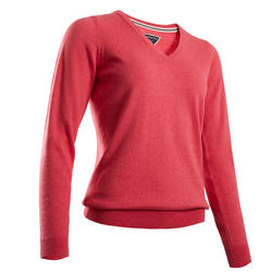 Women's Golf Pullover - Heather Strawberry Pink
