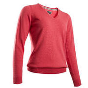 Women's Golf Pullover Sweater - Heather Pink