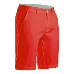 Short de golf homme MW500 rouge corail