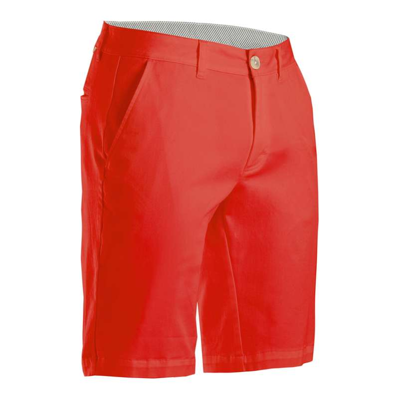 MENS MILD WEATHER GOLF CLOTHING Golf - Men's Golf Shorts - Coral Red INESIS - Golf Clothing