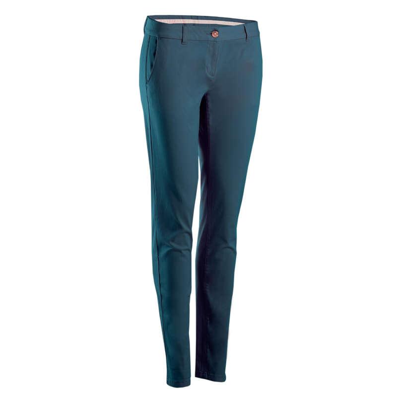 WOMENS MILD WEATHER GOLF CLOTHING Golf - W MW Trousers - Petrol INESIS - Golf Clothing