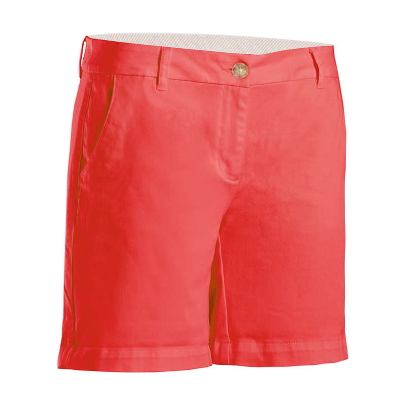 WOMENS MILD WEATHER GOLF CLOTHING Golf - MW SHORTS (W) STRAWBERRY PINK INESIS - Golf Clothing